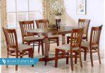 Set Meja dan Kursi Makan Mahogany