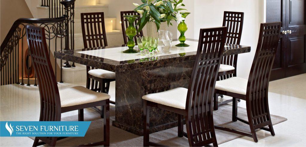 Set Meja dan Kursi Makan Modern