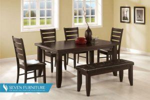 Set Meja dan Kursi Makan Minimalis Klasik