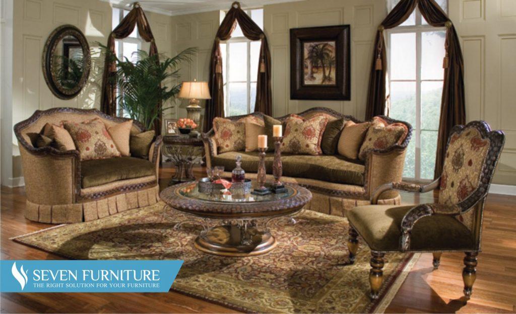 Set Meja dan Kursi Sofa Tamu
