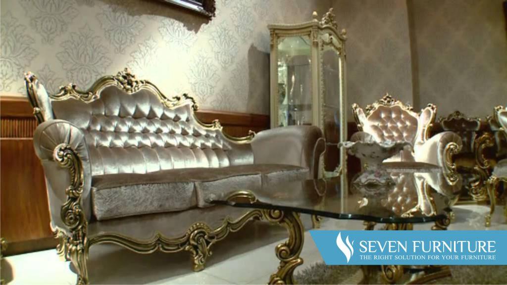Kursi Sofa Orfeo Silver Gold