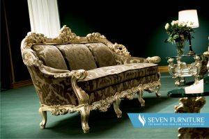 Kursi Sofa Orfeo Brown Gold