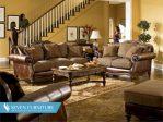 Set Meja dan Kursi Sofa Brown
