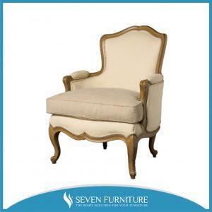 Kursi Sofa White Gold