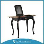 meja rias hitam lipat