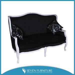 Kursi Sofa Black Flower