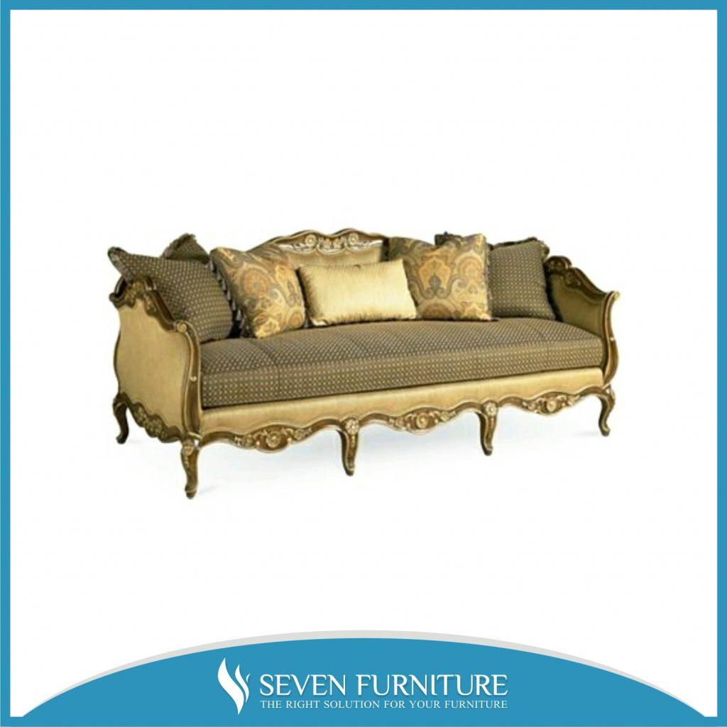Sofa Tamu Eropa Gold