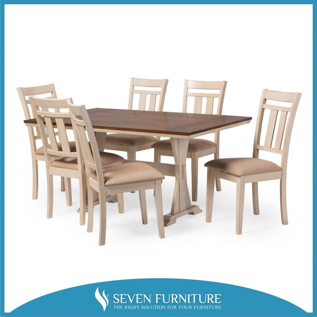 Set meja makan 6 kursi