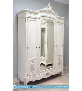 Lemari Baju 3 Pintu Putih
