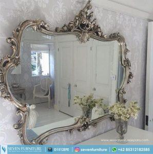 Pigura Cermin Ukiran Bunga