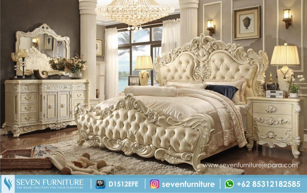 Set Kamar Tidur Ukiran Putih