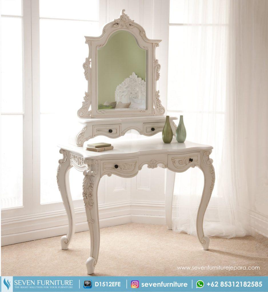 Meja Rias Putih Racoco
