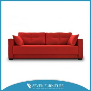 Sofa Minimalis 2 Seater Merah