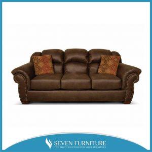 Sofa 3 Seater Kulit Sintetis