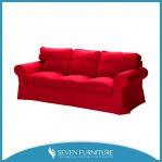 Sofa Tamu Merah 3 Seater