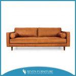 Sofa Retro Kulit Sintetis