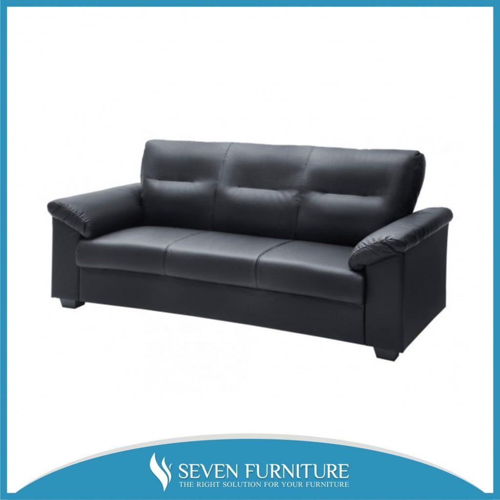 Sofa Hitam 3 Seater