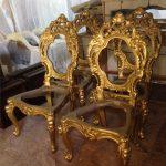 Kerangka Kursi Makan Minerva Warna Gold