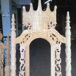 Detail mentahan kursi Raja Mahkota