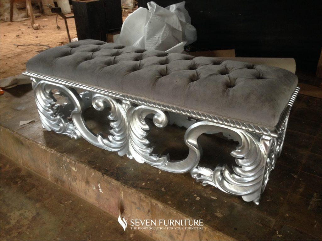 Sofa Bench Ukiran Silver