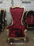 Sofa Syahrini Merah Emas Satu Dudukan
