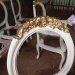 Kursi Makan Carlo Gold Leaf