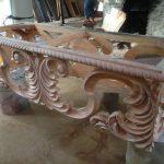 Kerangka Sofa Bench Ukiran