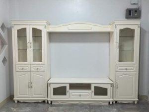 Bufet Dan Lemari TV Minimalis Putih Ivory