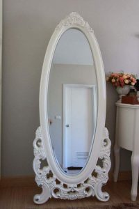 Standing Mirror White Duco