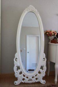Standing Mirror White Duco