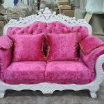 Set Sofa Tamu Shabby Merah Muda