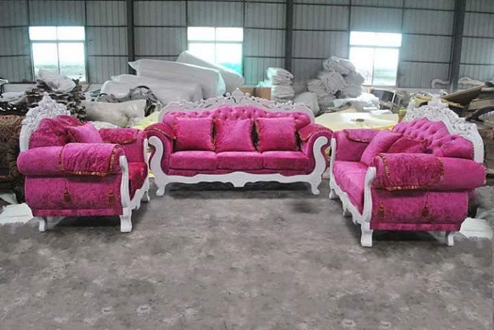Set Sofa Tamu Shabby Pink