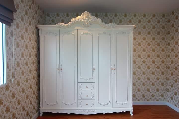 Lemari Pakaian Putih Jumbo 5 Pintu