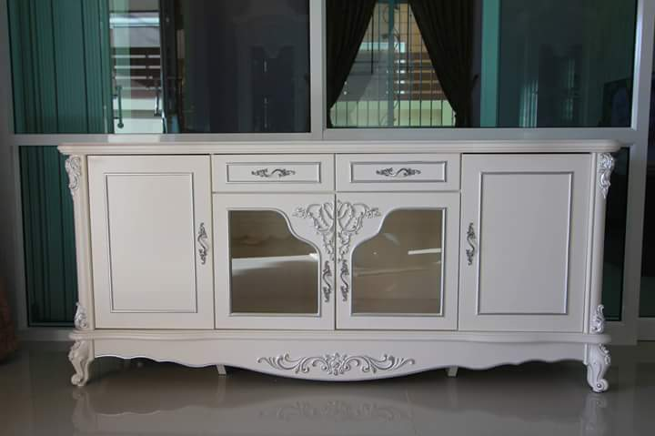 Buffet TV Cabinet Ivory