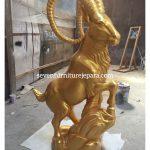 Patung Kambing Warna Emas | Goat Carving|