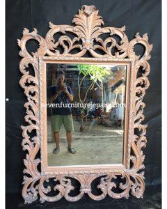 Frame Pigura Cermin Ukiran Klasik Natural