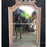 Mirror Ukiran Bunga Kayu Jepara