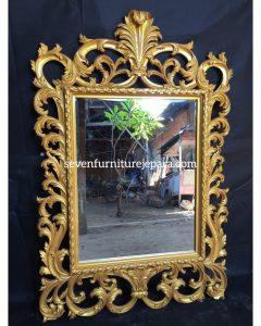Frame Bingkai Cermin Ukiran Gold