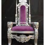 King Chair Purple SIlver | Kursi Raja Ungu Silver