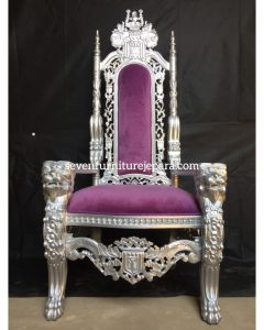 King Chair Purple SIlver | Kursi Raja Ungu Silver