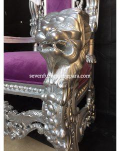 King Chair Purple SIlver
