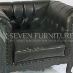 Chesterfield Sofa Black 1 Seater