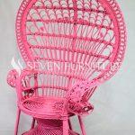 Kursi Rotan Merak Pink Shabby
