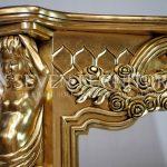 Detail Perapian Gold Leaf Mewah