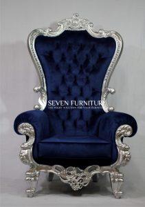 Kursi Sofa Romawi Silver Navy