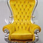 Kursi Sofa Romawi Silver Yellow