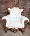 Kursi Sofa Romawi Putih Klasik