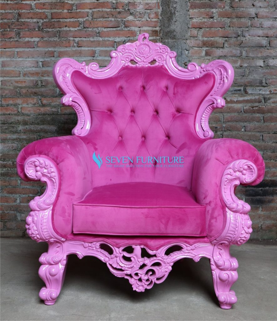 Kursi Sofa Romawi Pink Shabby
