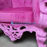 Detail Kursi Sofa Romawi Shabby