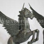 Patung Kuda Bersayap – Patung Unicorn Kayu Jati